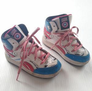 Reebok Marvel Captain America retro kids sneakers